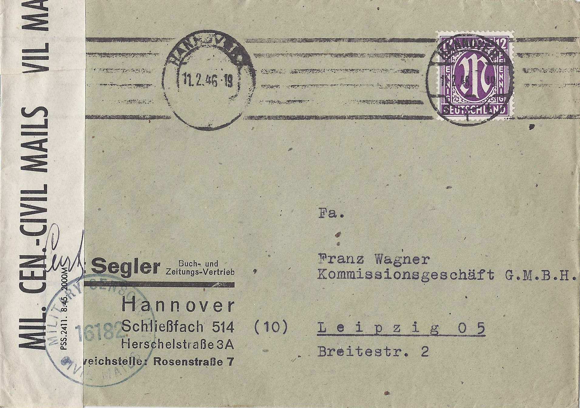 Briefe Korrekt Terbaru : Sachsen lese die postzensur der sowjetischen besatzungsmacht